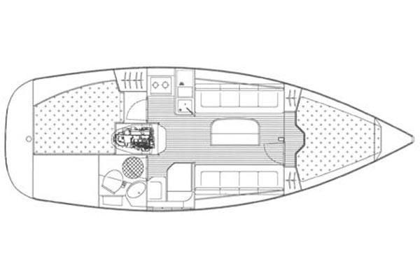 Bavaria 30 Cruiser Nina Grundriss
