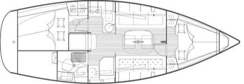Bavaria 31 Cruiser Achi Grundriss