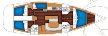 Beneteau Cyclades 50.5 Grundriss